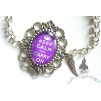 Plum Keep Calm Bracelet