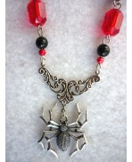The Black Widow Necklace - Red Version