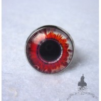 Evil Zombie Red White Eye Ring