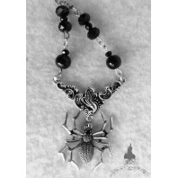 The Black Widow Necklace - Spider