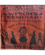 Housse de Coussin SALEM ORANGE - Oreiller, Sabbat, Sorcellerie, Sorcière, Wicca, Witch, Halloween, Magie, Potion