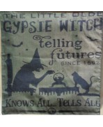 Green GIPSIE Pillow Cushion Cover - Witchcraft, Witch, Wicca, Teller fortune, Halloween, Magic, Circus
