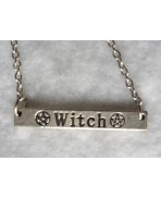 Collier Witch - Sorcière, Wicca, Occulte, Esotérique, Pentacle, Sorcellerie, Magie, Witch