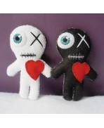 Kit Vaudou LOVE IN A BAG, Voodoo Doll, Coffret, Saint Valentin, Wicca, Couple, Mariage, Amour, Cadeau, Mariés, Personnalisé