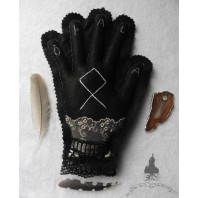 Embroidered Grey Odal Othala Rune Protection Hand, Dark Mori, Pendulum, Phytotherapy, Runes, Viking, Lithotherapy