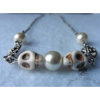 The Skull Cult Necklace, Memento Mori, Taxidermy, Macabre, Occult, Gothic, Pagan, Tribal, punk, rock