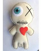 Dipygus Voodoo Doll, Siamese, Freak, Circus, Twins, Conjoined, Monster, Voodoo Doll, Mummy, Valentine, Freakshow, Halloween