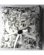 Black & White Cherubs Wedding Ring Pillow - Gothic, Cupid, Angel, Cherub, Eros, French Wedding, Marie-Antoinette, Shabby Chic