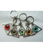 Esoteric All-seeing Eye Providence Keychain, Triangle, Taxidermy, Pyramid, Witch, Wiccan, Occult, Witchcraft, Magic, Keyring