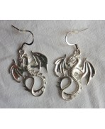 Boucles d'oreilles Dragon, Gothique, Daenerys, Khaleesi, Elfique, Fée, Drogon, Game of Thrones, Fantasy, Médiéval, Magie