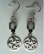 Spell Pentacle Earrings, Gothic, Wiccan, Elven, Celt, Witchcraft, Witch, Boho, Fairy, Pagan Wedding