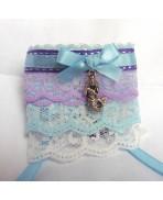 Purple Blue Wedding Mermaid Cuff Bracelet, Elven, Gothic, Pastel, Rainbow, Victorian, Edwardian, Shabby, Cosplay