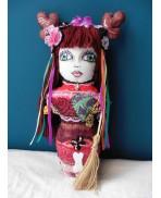 BABA YAGA Spirit Forest Totem Art doll, Folk, Altar, Magic, Witch, Slav, Vassilissa, Russian, Pagan, Shaman, Tale Dark Mori