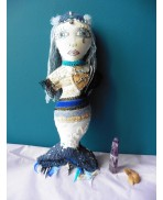Dahud Mermaid of Britain Blue Art Doll, Mystic, Gothic, Elven, Siren, Fairy, Creature, Sea, River, Magic, Mythology