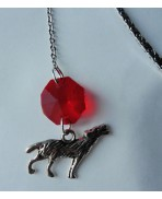 Small Red Gothic Wolf Bookmark, Werewolf, Book, Gift, Literature, Christmas, Magic