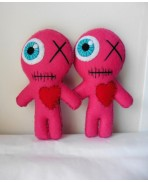 BFF Girl Power Pink Voodoo dolls Gift Kit, Valentine, Friend, Couple, Marriage, Love, Sister, friendship, LGBT, Same sex married