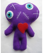 One Heart, Two Souls Purple Conjoined Twins Mummy Voodoo Doll - Siamese, Circus, Freak, Freak Show, Love, Valentine, Wedding