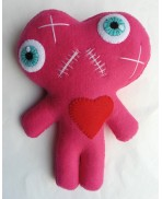 Pink Conjoined Twins Mummy Voodoo Doll - Siamese, Circus, Freak, Freak Show, Love, Valentine, Wedding