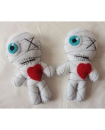 White Mummy in Love Poppet Voodoo Doll, Valentine's Day, Dagyde, Couple, Wedding, Halloween, Zombie