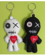 Mini Love Dad the Mummy Poppet Voodoo Doll Keychain, Dad, Daddy, Father's Day, Halloween, Zombie, Father