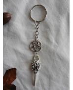 Gothic Nevermore Raven Skull Keychain, Edgar Allan Poe, Crow, Bird, Christmas, Gift, Keyring