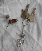 Gothic Pentacle Dragon Keychain, Christmas, Gift, Keyring, Wiccan