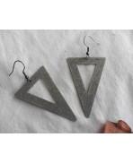 Alchemy Raw Brass Triangle Earrings, Earth element symbol, Minimalist, Magic, Geometric, Talisman, ethnic, Tribal, pyramid
