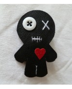 Voodoo Doll Brooch, Valentine's Day, Friend's Gift, Heart, Witch, boyfriend, friendship, video, witch accessory, lover