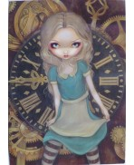 Alice in Clockwork Greeting Card by Jasmine Becket-Griffith