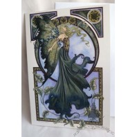 The Green Fairy Greeting Card by Amy Brown