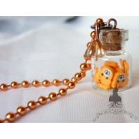 Collier Kawaii Oursons Orange - Ours Teddy Bear